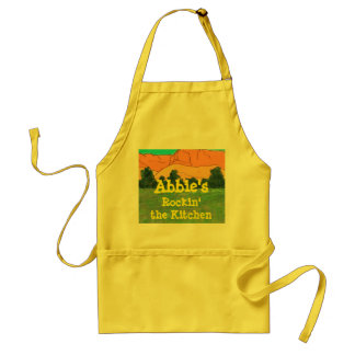 XXXXX's Rockin' the Kitchen Template Apron
