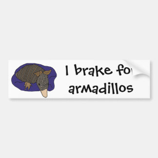 XY- Baby Armadillo on a Pillow Design Bumper Sticker