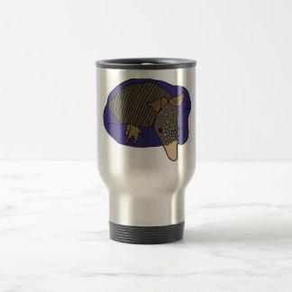 XY- Baby Armadillo on a Pillow Design Travel Mug