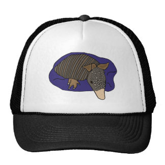 XY- Baby Armadillo on a Pillow Design Trucker Hat