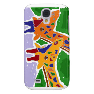 XY- Folk Art Giraffe Design Samsung S4 Case