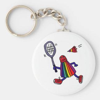 XY- Funny Badminton Birdie Cartoon Keychain