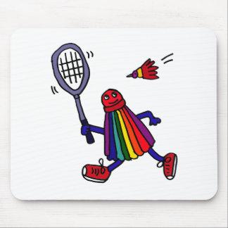 XY- Funny Badminton Birdie Cartoon Mouse Pad