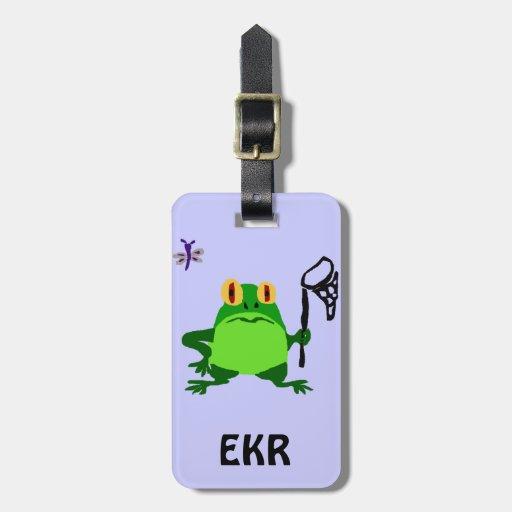 XY- Funny Frog and Dragonfly Cartoon Bag Tag