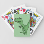 XY- Funny Green T-Rex Dinosaur Design Poker Deck