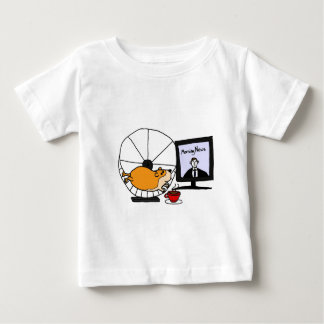 XY- Funny Hamster on an Exercise Wheel Satire Baby T-Shirt