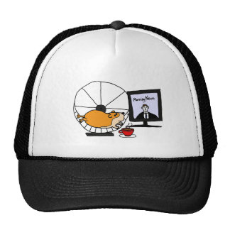 XY- Funny Hamster on an Exercise Wheel Satire Trucker Hat