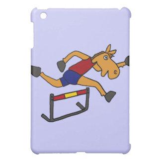 XY- Funny Horse Jumping Over Hurdles Cartoon Case For The iPad Mini
