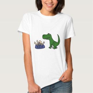 XY- Funny T-Rex Dinosaur and Skull in Bowl Shirt