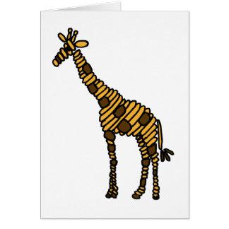 XY- Giraffe Art Cartoon Card