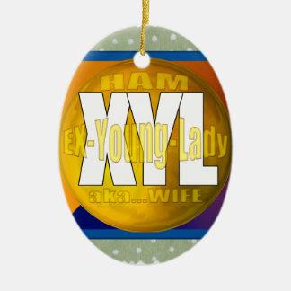 XYL HAM RADIO OPERATOR EX YOUNG LADY WIFE CHRISTMAS TREE ORNAMENTS
