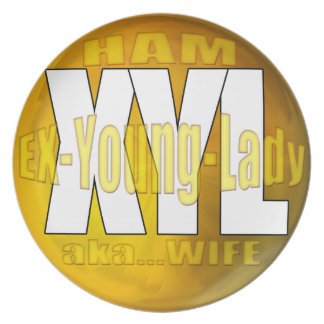 XYL HAM RADIO OPERATOR EX YOUNG LADY WIFE PARTY PLATES