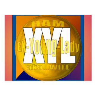 XYL HAM RADIO OPERATOR EX YOUNG LADY WIFE POSTCARD