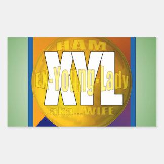 XYL HAM RADIO OPERATOR EX YOUNG LADY WIFE RECTANGULAR STICKER