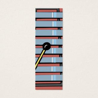 xylephone/xylophone bookmark mini business card
