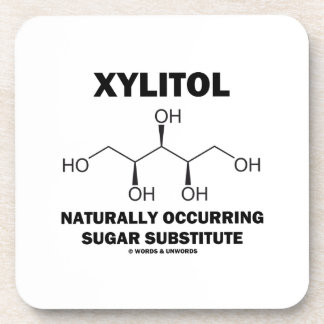 Xylitol Naturally Occurring Sugar Substitute Beverage Coaster