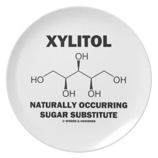 Xylitol Naturally Occurring Sugar Substitute Dinner Plate