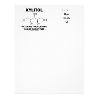 Xylitol Naturally Occurring Sugar Substitute Letterhead