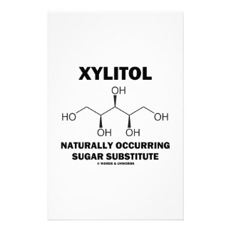 Xylitol Naturally Occurring Sugar Substitute Stationery