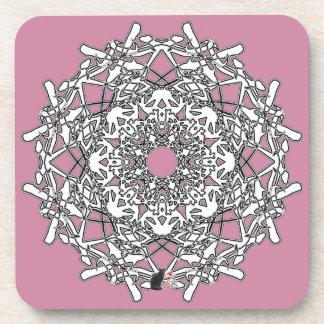 Xylographic Octa Glyph Dawn Coaster