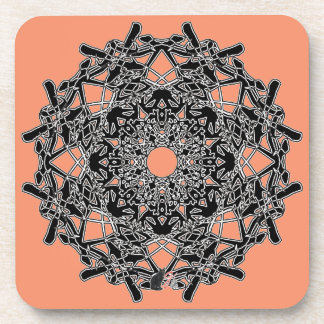 Xylographic Octa Glyph Dusk Coaster