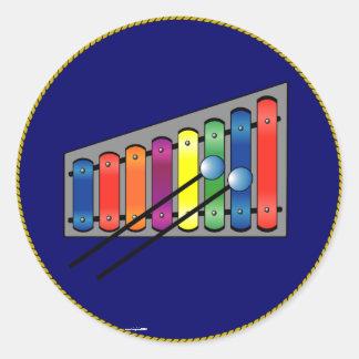 Xylophone Classic Round Sticker