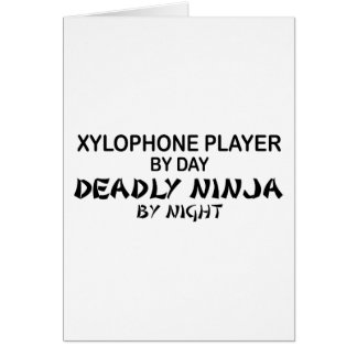 Xylophone Deadly Ninja by Night Card