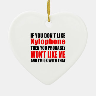 Xylophone Designs Double-Sided Heart Ceramic Christmas Ornament