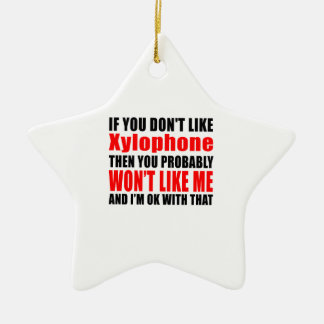 Xylophone Designs Double-Sided Star Ceramic Christmas Ornament