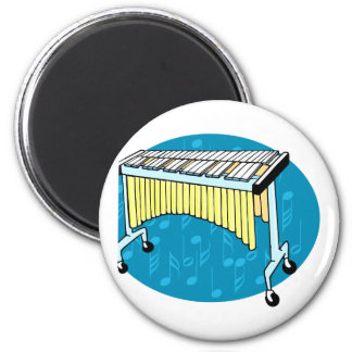 Xylophone graphic with blue background fridge magnet