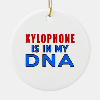 XYLOPHONE IS IN MY DNA Double-Sided CERAMIC ROUND CHRISTMAS ORNAMENT