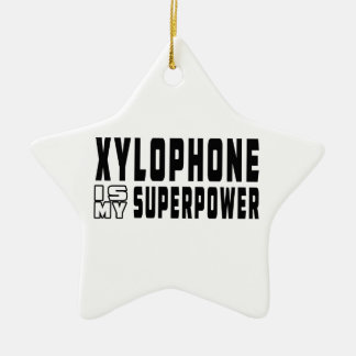 Xylophone Is My Superpower Double-Sided Star Ceramic Christmas Ornament