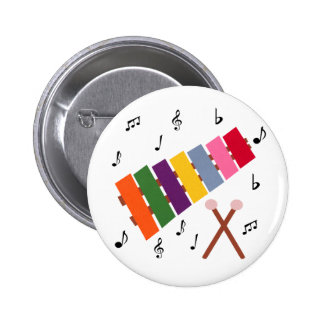 Xylophone Multicolored Musical Instrument Cartoon Button