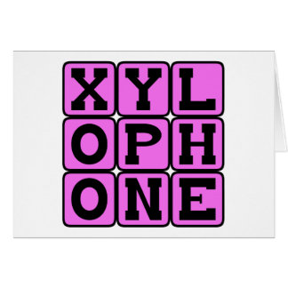 Xylophone, Musical Instrument Card