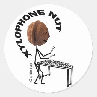 Xylophone Nut Classic Round Sticker