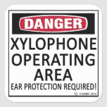 Xylophone Operating Area Square Sticker