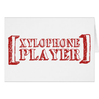 Xylophone Player Card