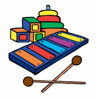 xylophone primary colored acrylic cut outs