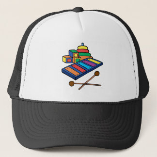 xylophone primary colored trucker hat