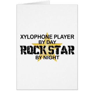 Xylophone Rock Star by Night Card