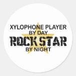 Xylophone Rock Star by Night Round Sticker