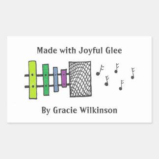 Xylophone Speaker Rectangular Sticker