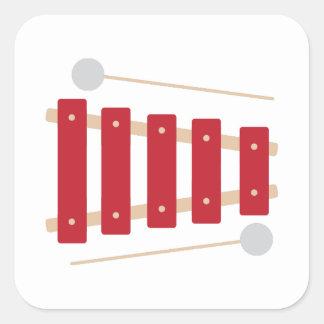 Xylophone Square Sticker