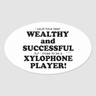 Xylophone Wealthy & Successful Oval Sticker
