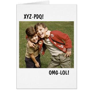 XYZ-PDQ GREETING CARD