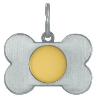 Y07 Calm Mustard Yellow Color Pet Name Tag