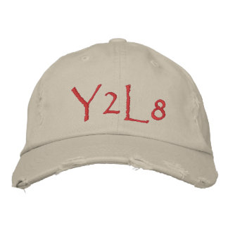 Y2L8 MAIN FONT EMBROIDERED BASEBALL CAPS