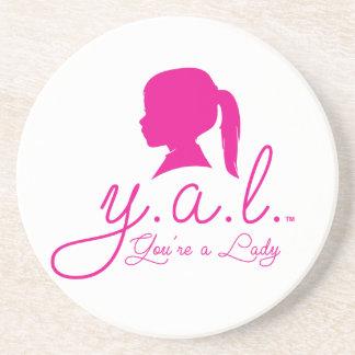 Y.A.L.  You're a Lady Beverage Coasters