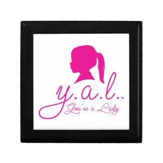 Y.A.L.  You're a Lady Keepsake Box