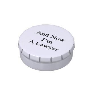 Y ahora soy abogado latas de caramelos